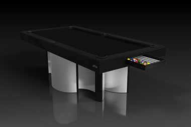 Elevate Customs modern design nexus pool table brushed aluminum 1