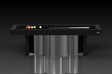 Elevate Customs modern design nexus pool table chrome 2
