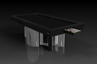 Elevate Customs modern design nexus pool table chrome 1
