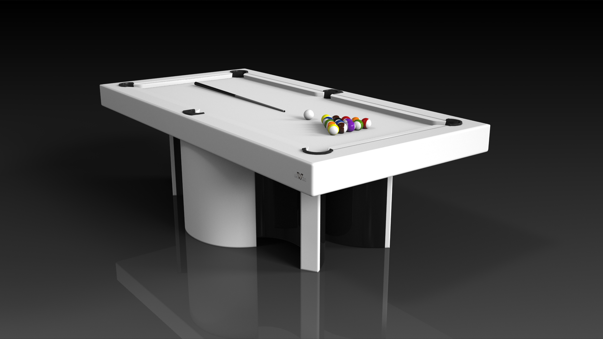 Elevate Customs modern design nexus pool table white 4