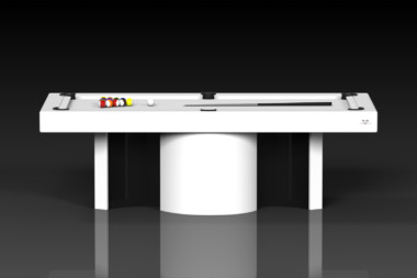 Elevate Customs modern design nexus pool table white 2