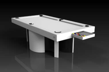 Elevate Customs modern design nexus pool table white 1