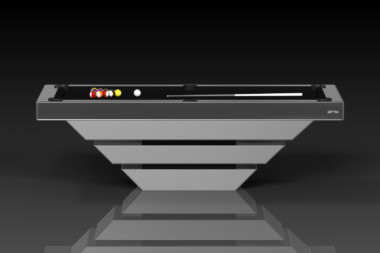 Elevate customs modern design louve pool table chrome 2