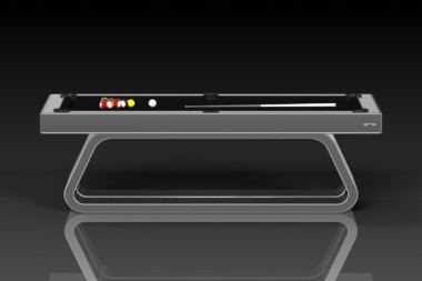 Elevate Customs Modern design Luge pool table brushed aluminum 2
