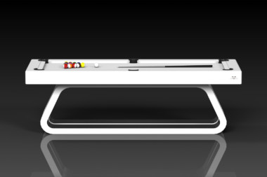 Elevate Customs Modern design Luge pool table white 2