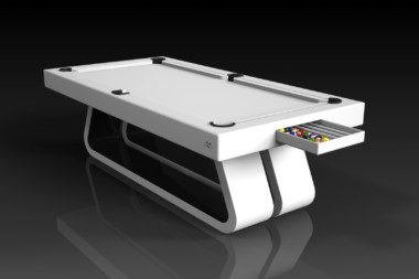 Elevate Customs Modern design Luge pool table white 1