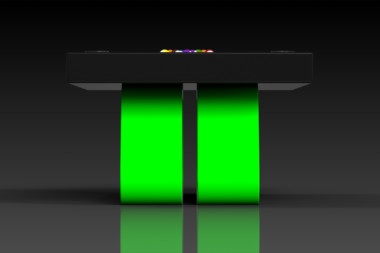 Elevate Customs Modern design Luge pool table black and neon green 3