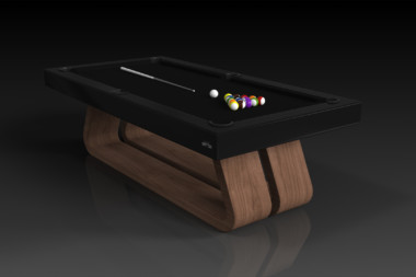 Elevate Customs Modern design Luge pool table walnut 4