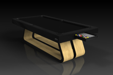 Elevate Customs Modern design Luge pool table bamboo 1