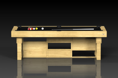 Elevate Customs modern design quota pool table bamboo 2