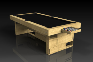 Elevate Customs modern design quota pool table bamboo 1