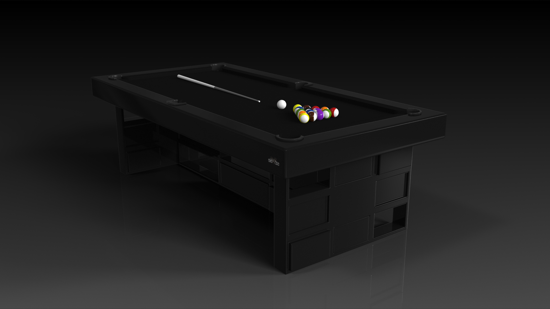Elevate Customs modern design quota pool table black 4