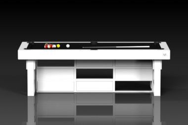 Elevate Customs modern design quota pool table white 2