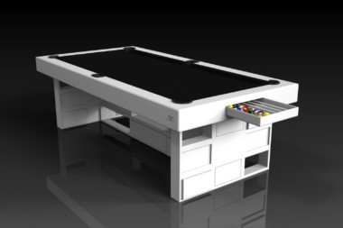 Elevate Customs modern design quota pool table white 1