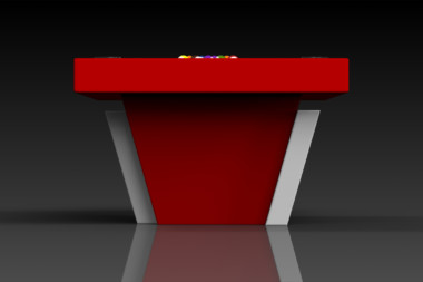 Elevate Customs modern design vogue pool table white and red 3
