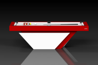 Elevate Customs modern design vogue pool table white and red 2
