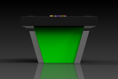 Elevate Customs modern design vogue pool table black and neon green 3