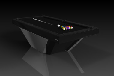 Elevate Customs modern design vogue pool table chrome 4