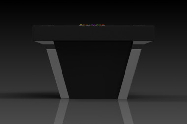 Elevate Customs modern design vogue pool table chrome 3