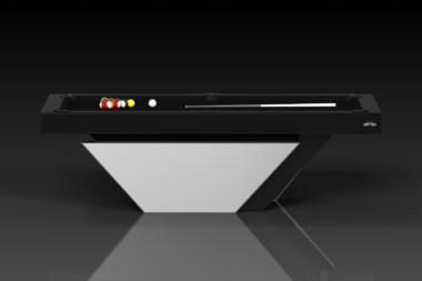 Elevate Customs modern design vogue pool table chrome 2