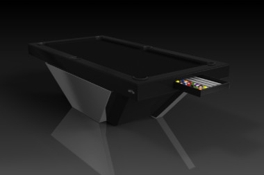 Elevate Customs modern design vogue pool table chrome 1