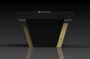 Elevate Customs modern design vogue pool table bamboo 3