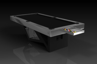 Elevate Customs modern design rumba pool table black 1