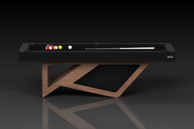 Elevate Customs modern design rumba pool table walnut 2