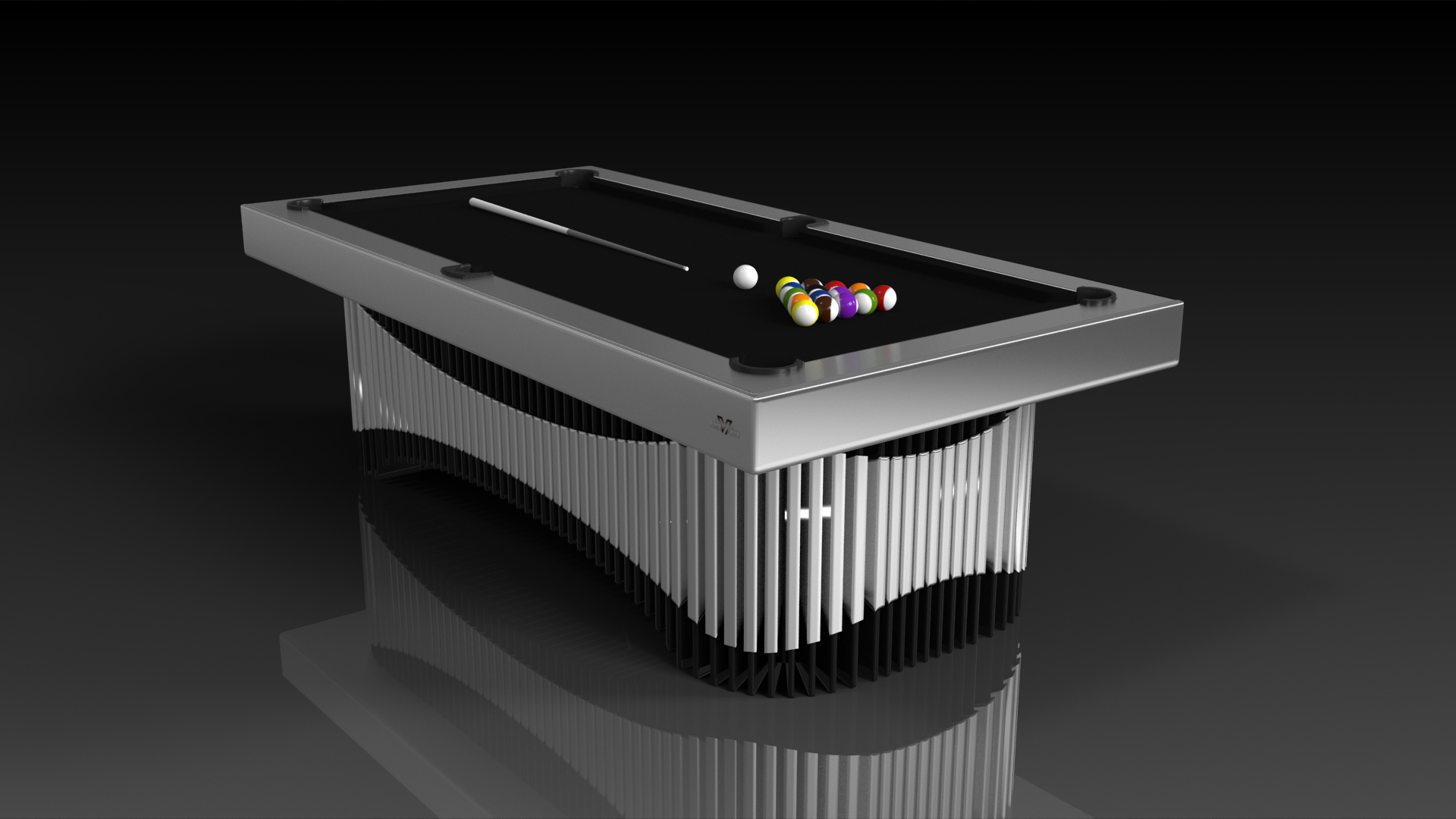 Elevate customs Modern design marimba pool table brushed aluminum 4