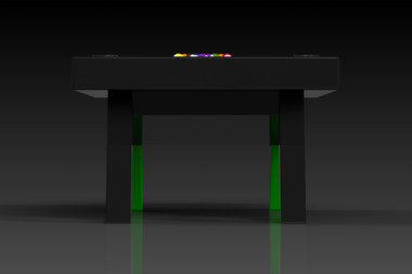 Elevate Customs Modern design Mantis pool table black and neon green 3