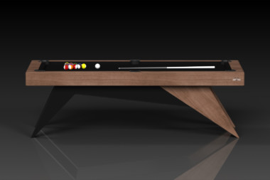 Elevate Customs Modern design Mantis pool table walnut 2