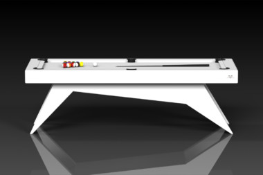 Elevate Customs Modern design Mantis pool table white 2