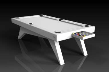 Elevate Customs Modern design Mantis pool table white 1