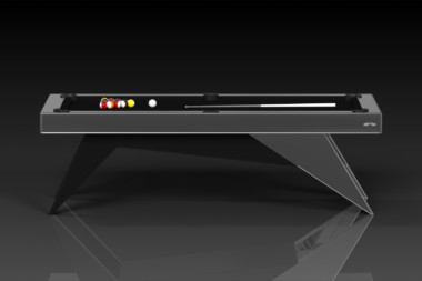 Elevate Customs Modern design Mantis pool table brushed aluminum 2