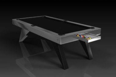 Elevate Customs Modern design Mantis pool table brushed aluminum 1