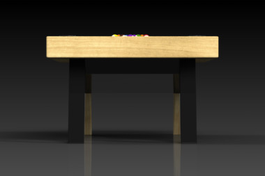 Elevate Customs Modern design Mantis pool table bamboo 3