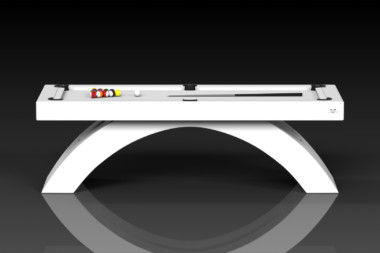 Elevate Customs modern design zenith pool table white 2