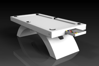 Elevate Customs modern design zenith pool table white 1