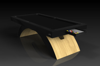 Elevate Customs modern design zenith pool table bamboo 2