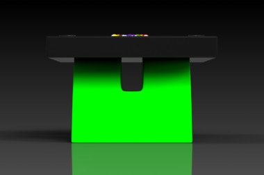 Elevate Customs modern design zenith pool table black and neon green 3
