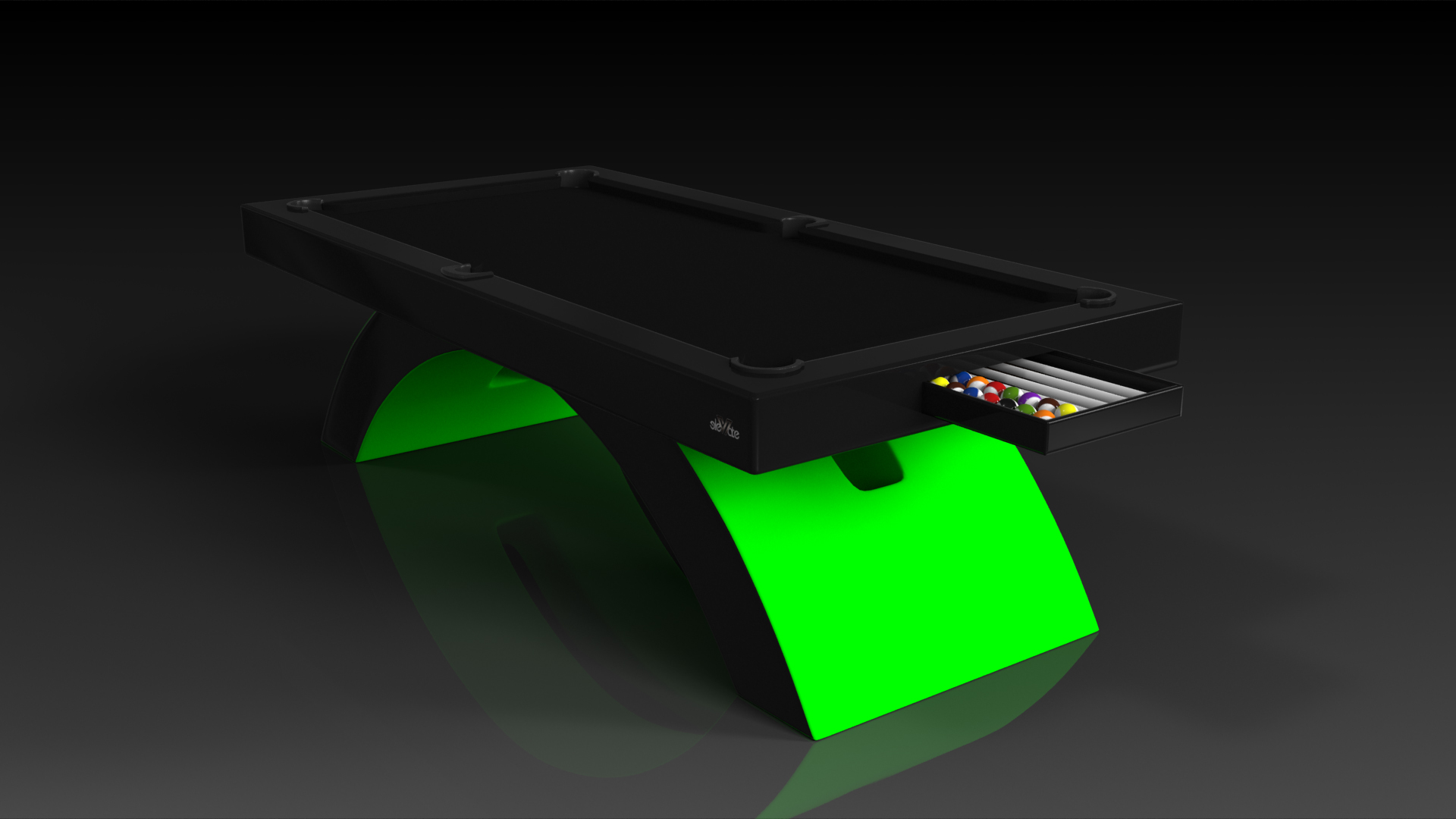 Pool Tables Archives Elevate Customs - Neon pool table