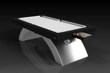 Elevate Customs modern design zenith pool table brushed aluminum 1