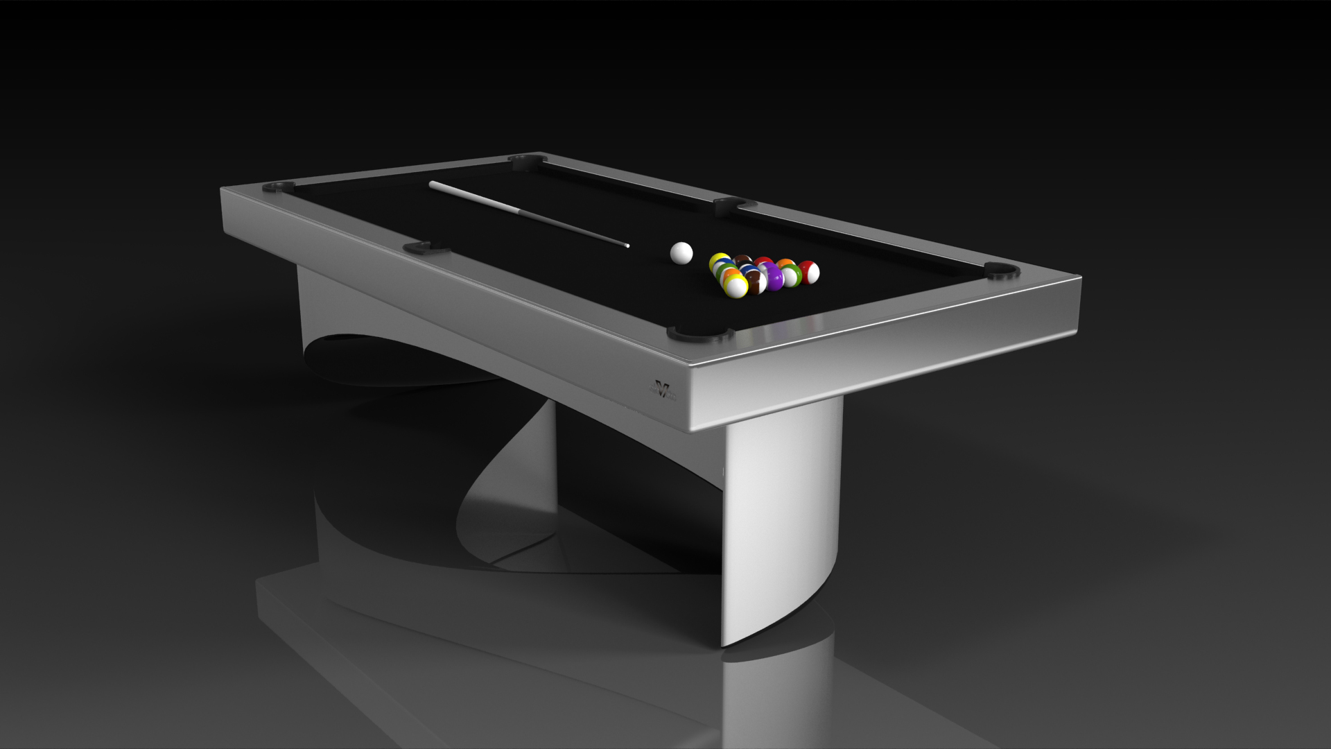 Elevate customs modern design ellipse pool table brushed aluminum 4