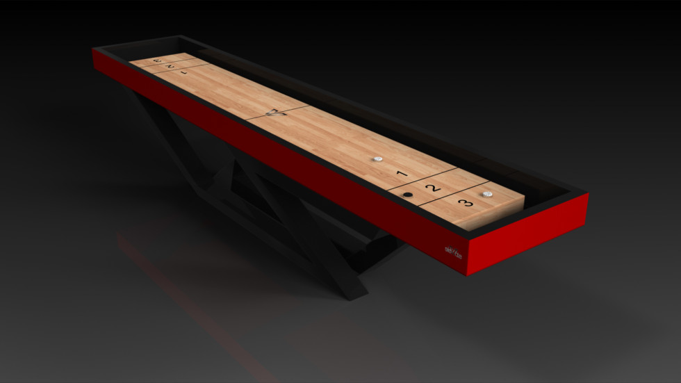 Trinity Black and Red Shuffleboard
