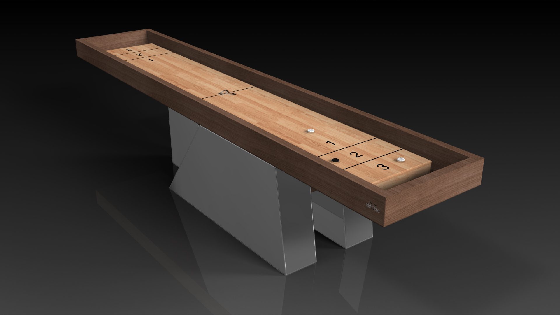 Stilt Walnut Shuffleboard