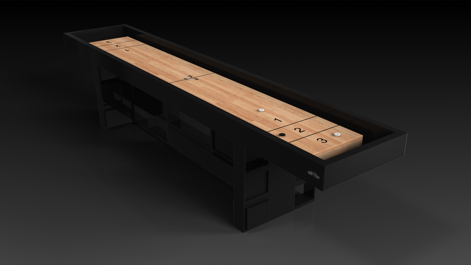 Quota Black Shuffleboard