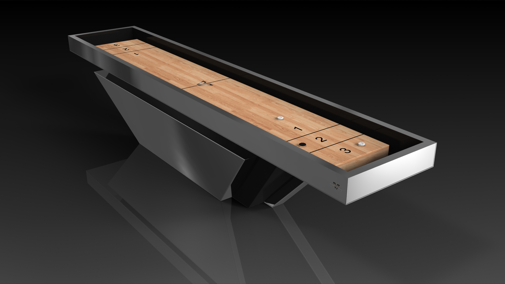 Vogue Black Shuffleboard