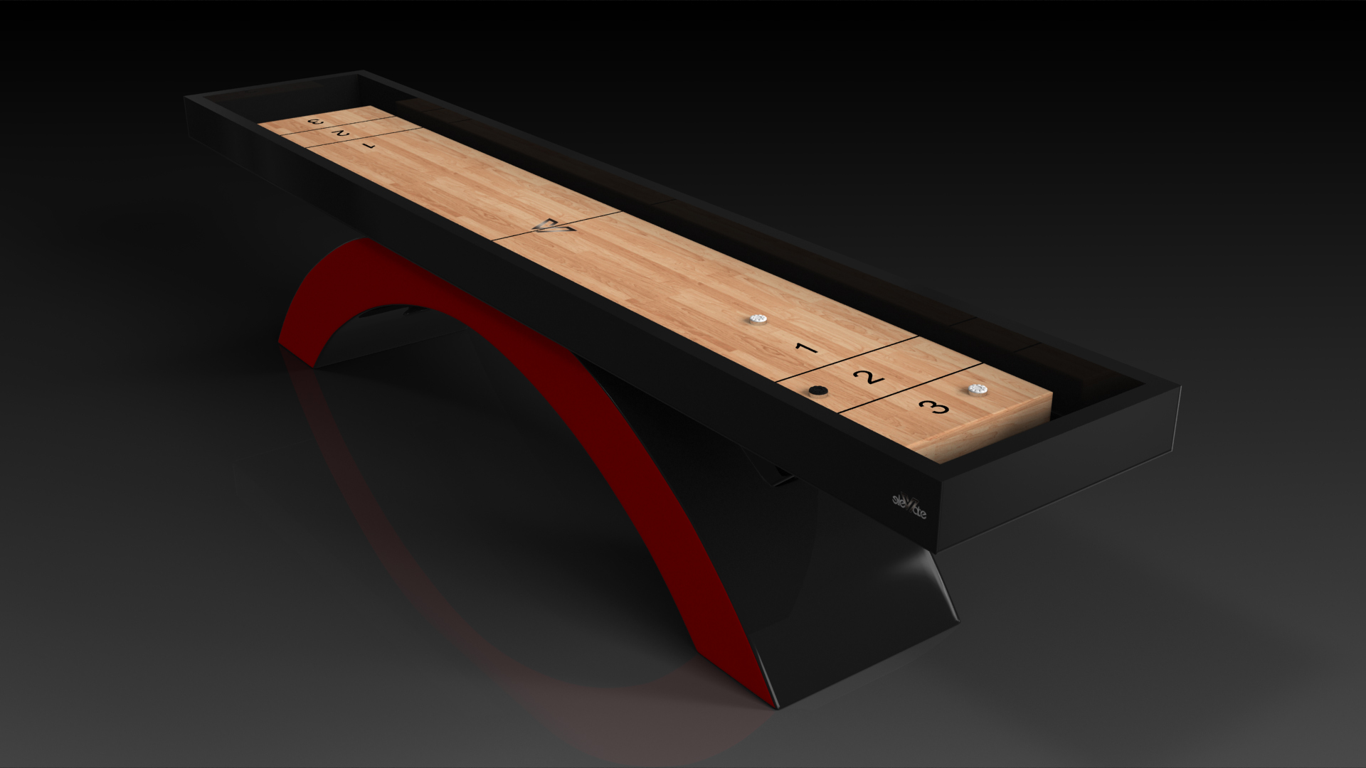 Zenith Black and Red Shuffleboard