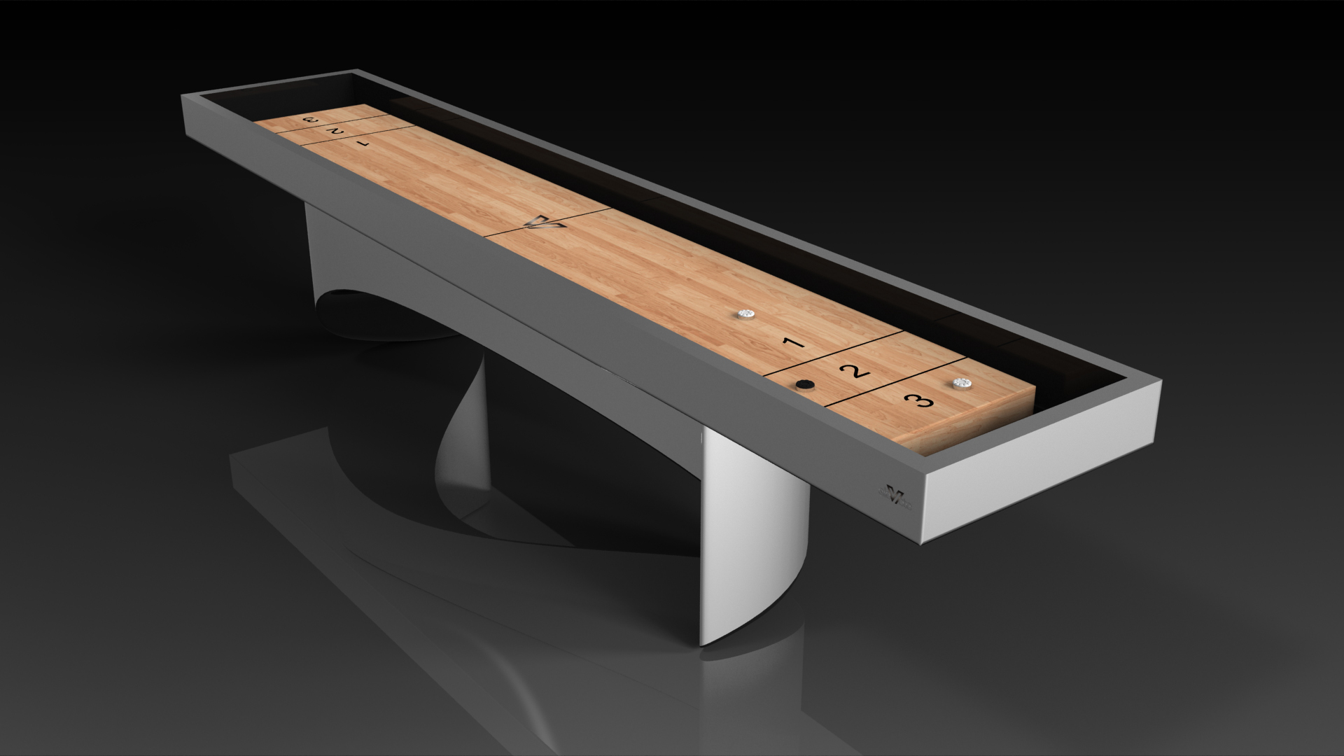 Ellipse Brushed Aluminum Shuffleboard