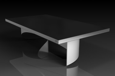 Ellipse Brushed Aluminum Dining